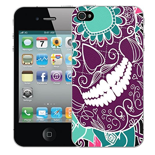 Mobile Case Mate iPhone 5 clip on Dur Coque couverture case cover Pare-chocs - inferno skull Rose Motif avec Stylet grining teeth