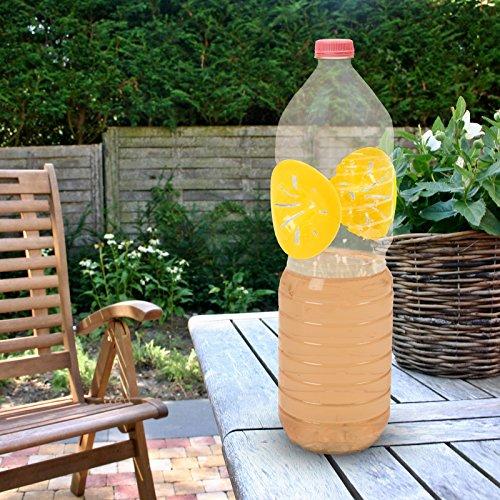 Gardigo - Pièges à Guêpes, Mouches; Set de 12; Fabriquer un Piège à Guêpe avec une Bouteille en Plastique; Bricolage Rapide; Attrape Insectes; Do It Yourself