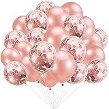 بالونات بلون ذهبي وردي، 30 قطعة، بالونات من اللاتكس لحفلات أعياد الميلاد وحفلات الزفاف والخطوبة والزواج، وحفلات استقبال المول