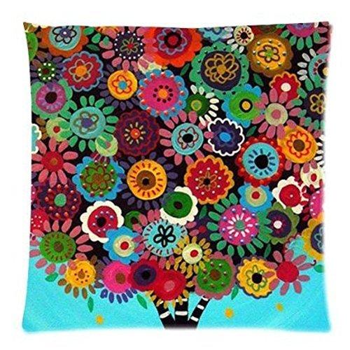 LarryEShop Beautiful Patterns y Tiras Estilo Mexicano Decorativa cojín de Lino y algodón Manta Almohada...