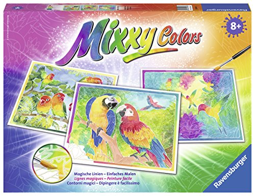 Ravensburger Mixxy Colors 29497 - Gefiederte Freunde, Malset
