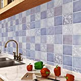 Tapete Fototapete Wallpaper 6 m * 0,6 m Küche Öl Wandsticker selbst Klebstoff wasserdicht faux Backstein Muster Tapete Fliesen Bad WC-Papier Restaurant Tapete , type 2