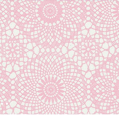 Klebefolie - Möbelfolie - Spitze rosa weiss 45 x 200 cm - Dekorfolie selbstklebend, selbstklebende Folie für Möbel, Küche und Kinderzimmer, Bastelfolie (Rosa Möbel)
