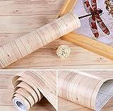 5m Holz natur Sticky Back Kunststoff: selbstklebend AHORN Fablon Klebefolie Aufkleber