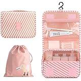 Orgawise beauty case borsa da viaggio borsa da toilette borsa cosmetica per donne e ragazze con impermeabile (inviare una bor