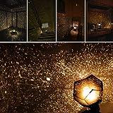 Cosmos Night Lampe,BBTXS Weihnachten Celestial Star Cosmos Night Lamp Stern-Beleuchtung Lampe 360 Grad Romantische Lamp entspannende Stimmung Lichtprojektor Night Lights Projection (Schwarz)