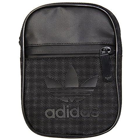 adidas Uni Trefoil Festival Schultertasche, Black, 12 x 17 x