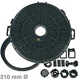 daniplus© Kohlefilter Ø 210mm, Filter Set passend für Elica, Indesit, Ariston und andere mit 210mm Durchmesser