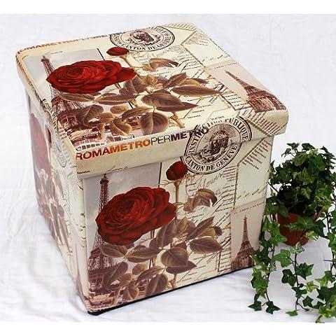 Sgabello in similpelle Seduta-sgabello 2220 Pacco d'imballaggio 40cm Cubo-seduta Cassa Cesto