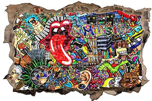 Graffiti Kunst Abstrakt Wandtattoo Wandsticker Wandaufkleber D1341 Größe 70 cm x 110 cm