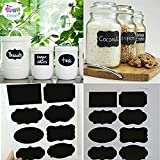 #10: Happy GiftMart 40pcs Home Kitchen Blackboard Stickers Removable Chalkboard Labels For Fridge, Plastic Jars