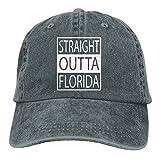 Have You Shop Men and Women Straight Outta Florida Vintage Jeans Baseball Cap Asphalt