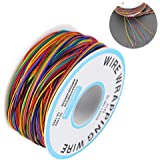 Rollo de Cable de Colores,Cable de Embalaje de Prueba de Aislamiento Cable de Cobre Estañado 30AWG P/N B-30-1000,para Placa B