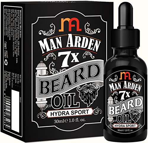 Man Arden 7X Beard Oil 30ml (Hydra Sport) - 7 Premium Oils For Beard Growth & Nourishment
