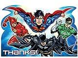 "8 Dankeskarten Comic DC ""Gerechtigkeitsliga"""