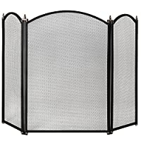 Home Discount Selby 3 Panel Fire Screen Spark Guard