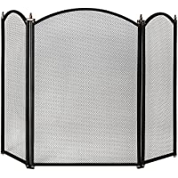 Home Discount® Selby 3 Panel Fire Screen Spark Guard, Black - ukpricecomparsion.eu