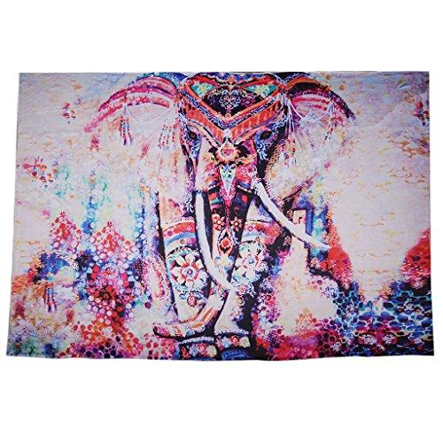 Bohemian Blumen-Druck Wandteppiche Wandbehang Yoga Matte Haus Wand Dekor Polyester - Orange, 150 * 130cm