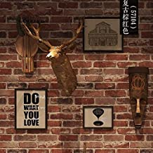 Retrò 3D personalizzato la parete in mattoni mattone texture per la città alla moda di sfondo classico latte Tea Shop Bar e ristorante la cultura della pietra, mattone rosso città elegante sfondo classico e antico personalità bruno rosso mattone posto, solo lo sfondo