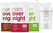 Oats Overnight (3Oz Per Pack) High-Protein,Low-Sugar,Gluten-Free (Starter Pack)
