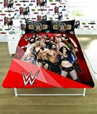 WWE 2K17 Face Vs Heel Single/Double Duvet Cover Bed Set - Reversible Panel Designs (Double Duvet Cover)