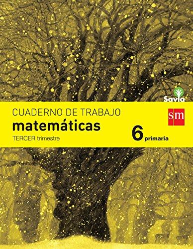 Cuaderno de matemáticas. 6 Primaria, 3 Trimestre. Savia - 9788467578591
