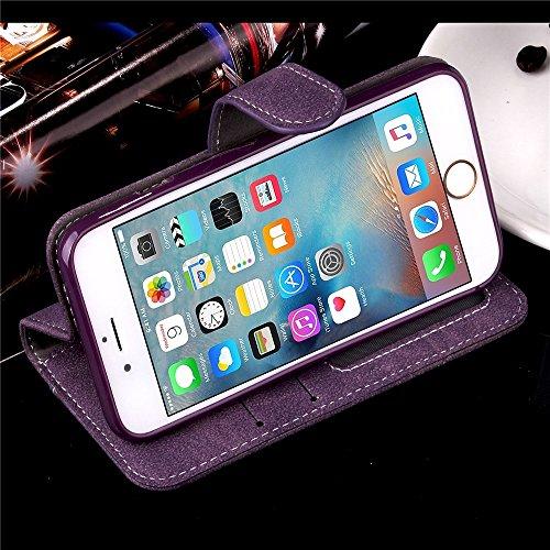 iPhone Case Cover Étui iPhone 6s Plus, Fleurs en relief Rétro Folio Premium PU Housse en cuir Magnétique Fermeture Portefeuille Stand Style Housse Housse pour iPhone 6s Plus ( Color : Rose , Size : IP Purple