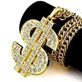 Hiphop hip-hop hip-hop Schwarz Jewelry AA strass Classic American Dollar Anhänger Halskette