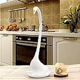 cuteco mignon Creative Swan cuillère à soupe Bouillie Louches Cuillères à Long Manche avec plateau blanc