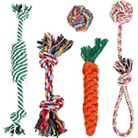 Lictin 5pcs Hundespielzeug Kauspielzeug Hund Spielzeug Set Baumwollknoten Spielset Seil Spielzeug für Hunde