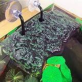LanLan Plataforma de Tortuga, Rectangular Basking Platform Acuario, Decoración de Acuario de Animal doméstico