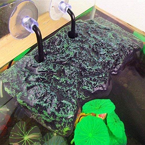 LanLan Plataforma de Tortuga, Rectangular Basking Platform Acuario, Decoración de Acuario de Animal doméstico de réptil