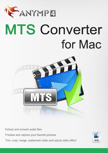 AnyMP4 MTS Converter für Mac Lifetime License- MTS in populäre Formate wie MP4/MOV/WMV/AVI/MKV/MPEG/MP3/WAV auf Mac umwandeln [Download]