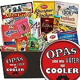 Opas sind wie Väter nur cooler ✿ Schokoladenset ✿ Geschenk Set ✿ Opas sind wie Väter nur cooler ✿ Schokoladen Set ✿ Geschenke für Opa Geburtstag ✿ mit Zetti, Halloren und mehr