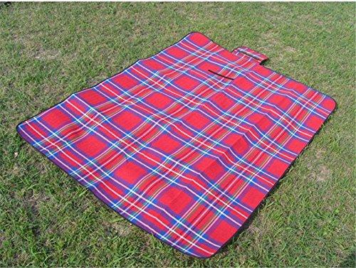 RFVBNM En plein air camping Oxford tissu pique-nique mat printemps tour pique-nique mat épais imperméable portable pliant tente tapis,rouge 200 * 150 cm