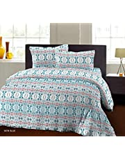 Bombay Dyeing Beeze+ 120 TC Cotton Bedsheet with 2 Pillow Covers - King Size