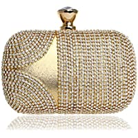 XNWYSTB Bolso de Novia \ Bolso de Noche de Embrague \ Bolsos de Hombro \ Bolso de Cena de Diamantes de imitación Vestido de Noche para Damas con una pequeña Bolsa Cuadrada