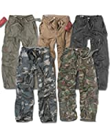 SURPLUS INFANTRY CARGO PANTS MENS VINTAGE ARMY BAGGY COMBAT TROUSER WASHED