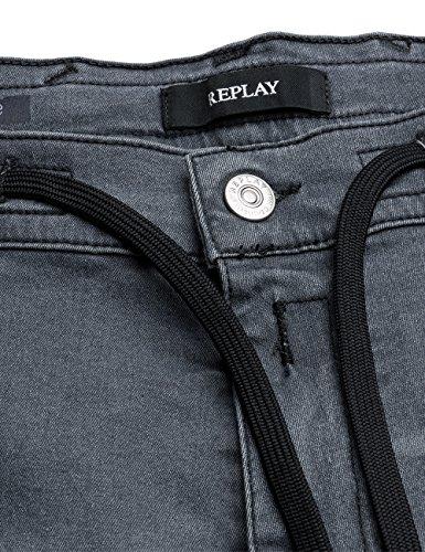 Replay Herren Loose Fit Jeans Geobest Grau (Grey Denim 9)