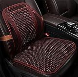VIGKO Holzkugel-Sitzauflage mit Holzperlen für alle Autositze mit Taillenunterstützung, Breathable Lumbal, a