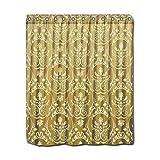 CHATAE Duschvorhang, Gold, Vintage, Antik-Optik, viktorianisches Muster, damasks Duschvorhang