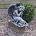 Steinfigur Engel Angel Gartenfigur Grabengel Skulptur Grabschmuck Frostfrei massiver Steinguss von steinfiguren-neumann - Du und dein Garten