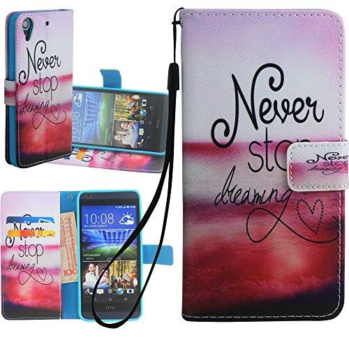 Dooki, HTC Deisre 626 Hülle, HTC Deisre 628 Hülle, Ständer Flip PU Leder Brieftasche Abdeckung Tasche Schutzhülle für HTC Desire 626 626S D626x 626G+ / Desire 628 mit Kredit Kartenhalter Schlitz