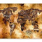 murando - Fototapete 400x280 cm - Vlies Tapete - Moderne Wanddeko - Design Tapete - Wandtapete - Wand Dekoration - Weltkarte k-A-0002-a-b
