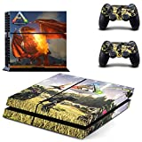 Playstation 4 + 2 Controller Aufkleber Schutzfolie Set - ARK: Survival Evolved (1) /PS4