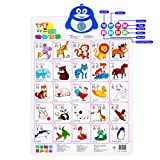 Fun and Educational talking poster; The Electronic Interactive Wall Poster; Touch Activated( Push-To-Talk for kids and adults learning Chinese) 24.4\