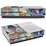 Microsoft XBox One S Folie Skin Sticker aus Vinyl-Folie Aufkleber Gitarre Art Kunst
