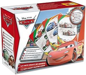 Liscianigiochi 35373 - Juego de Cartas Gigantes, diseño de Cars 2 Importado de Italia