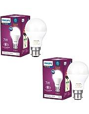 Philips Base B22 7-Watt LED Bulb (Pack of 2, Cool Day Light)