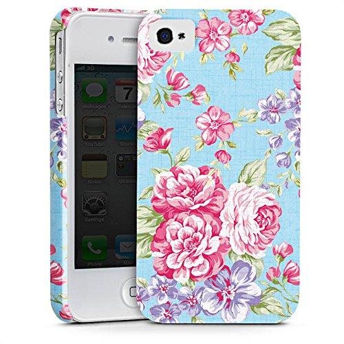 Apple iPhone X Silikon Hülle Case Schutzhülle Retro Frühling Flower Premium Case glänzend
